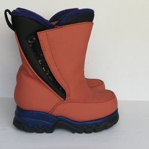 Lands' End Toddler Orange Waterproof Snow Boots